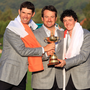 United front: The European Irish contingent at the 2010 Ryder Cup - Padraig Harrington, Graeme McDowell and Rory McIlroy