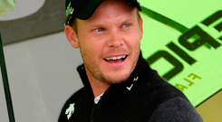 On rise: Danny Willett was happy to finish joint sixth at Royal Portrush