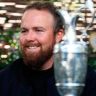 Home is the hero: Shane Lowry with the Claret Jug in Clara last night