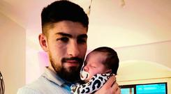 New addition: Michael Ruddy with daughter Annabelle
