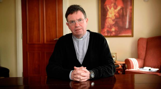 Staying busy: Fr Martin Magill