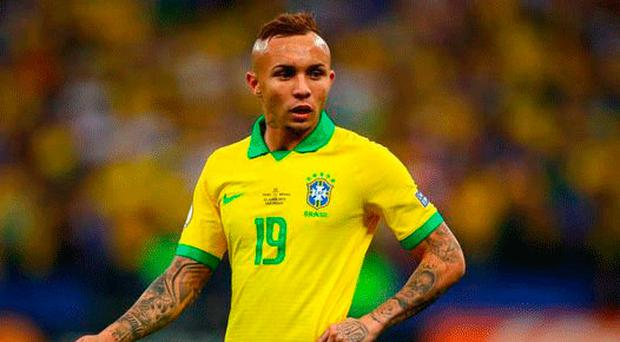 Transfer target: Arsenal are thought to be lining up a £36m move for Gremio forward Everton Soares
