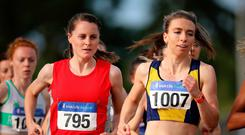 Perfect race: Ciara Mageean (far left) during yesterday's 800m race