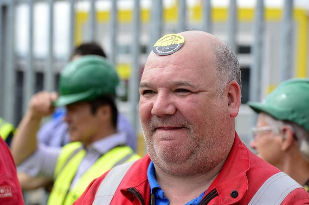 They're being supported by the unions Unite and GMB, who have said they understand workers' frustration at the government's failure to take action to preserve jobs and skills in Northern Ireland and secure the future of the yard. Arthur Allison/Pacemaker.