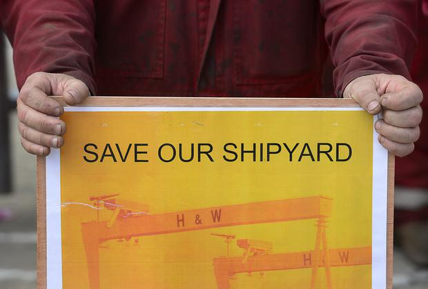 Financial problems facing the Belfast shipyard have escalated since a potential sale to one buyer fell through. Arthur Allison/Pacemaker.