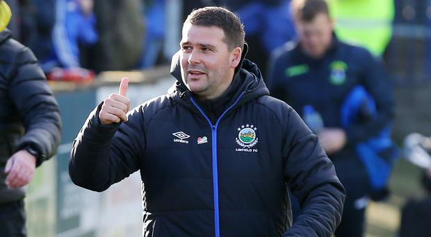 Double booked: David Healy would like to see Blues' clash with Ballymena postponed as it would mean they are on Euro duty