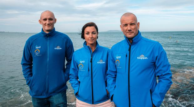 Rachael Lee, Tom Healy and Ronan Joyce who have set a new world record