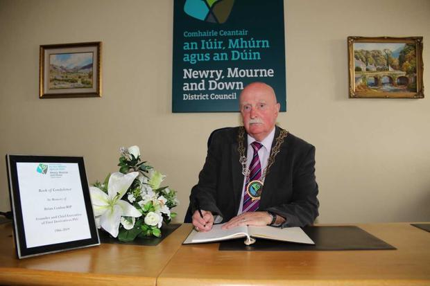 Newry, Mourne and Down District Council Chairperson Charlie Casey has opened a number of books of condolence in memory of Mr Conlon.