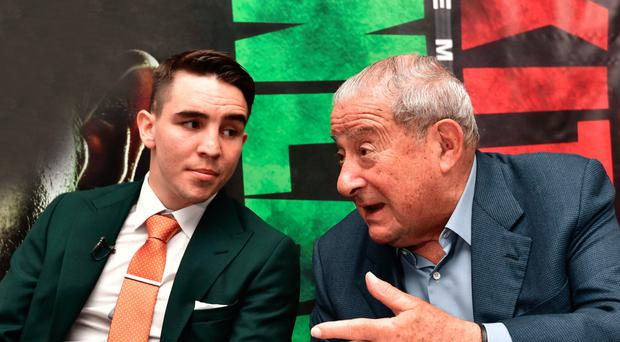Dream team: Michael Conlan and Bob Arum have world title glory in their sights