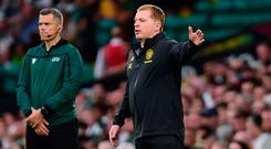 On rise: Neil Lennon is happy to see standards high so early in the season