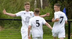 Tyrone's Lewis Francis celebrates sending his side into the semi-finals.