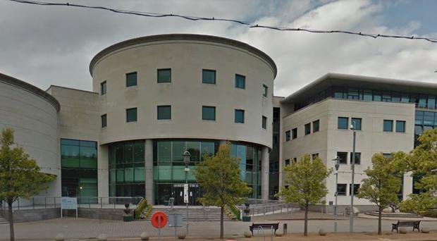 The gun was found on grassland close to the headquarters of Lisburn and Castlereagh City Council. Credit: Google