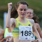 Front runner: Ciara Mageean races to victory in Belfast last night