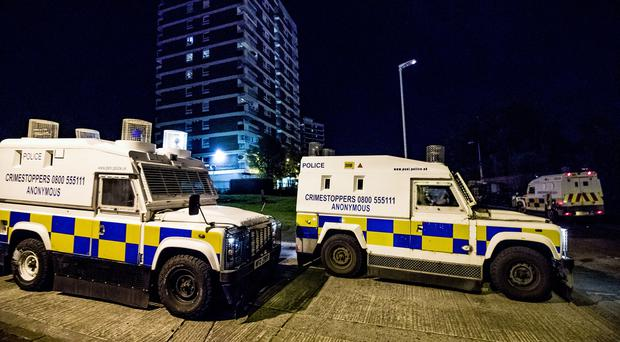 Riot police deal with disorder and anti-social behaviour in the Victoria Parade area of the Newlodge estate, north Belfast on August 1st 2019 (Photo by Kevin Scott for Belfast Telegraph)