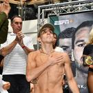 Ready to rumble: Michael Conlan weighs in for tonight's big fight against Diego Alberto Ruiz