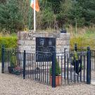 The IRA memorial in Loughgall which was demolished by a digger