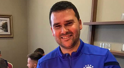 Linfield manager David Healy got a special cake to mark his 40th birthday on Monday.