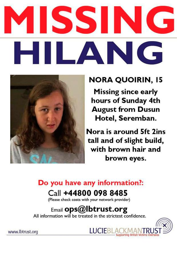 Handout photo supplied by the Lucie Blackman Trust on behalf of the family of Nora Quoirin. Nora, 15, has gone missing while on a holiday with her family in Malaysia. PRESS ASSOCIATION Photo. Picture date: Monday August 5, 2019. See PA story MISSING Malaysia. Photo credit should read: LBT/Family handout/PA Wire