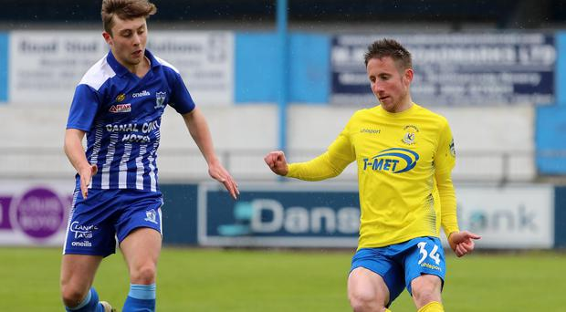 Major aims: Michael Carvill is determined to give his all after turning his loan at Dungannon Swifts into a permanent move
