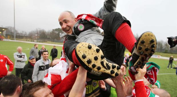 Tommy Breslin led Cliftonville to back-to-back league titles and will forever be hailed as a hero at Solitude.