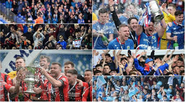 The attendances at Irish League matches have gone up 27% over the last decade while the Premiership averaged over three goals per game last season.