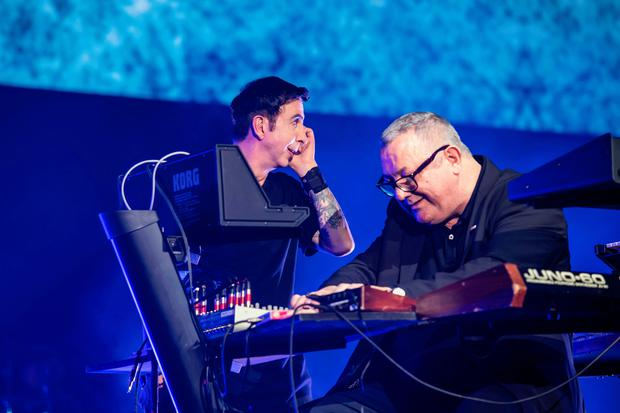 Marc Almond performing alongside Dave Ball in Soft Cell