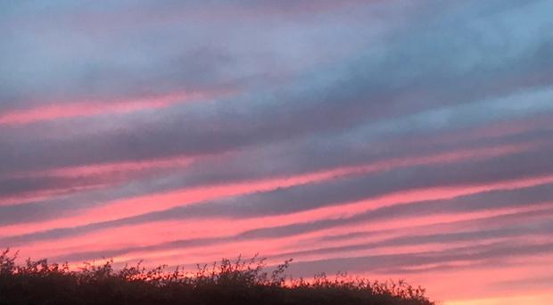 In Pictures: Northern Ireland skies blaze red for stunning sunset