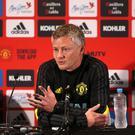 Confident: Ole Gunnar Solskjaer says United squad is getting stronger