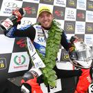 Peter Hickman celebrates his third success of the week.