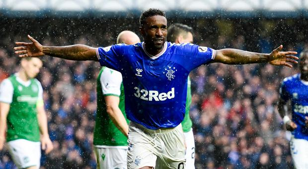 Jermain Defoe netted a hat-trick in the weekend win over Hibernian