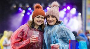 10 Aug 2019 - Music fans Michelle McKinley (left) and Sheena McKendry from Loughgiel at Lush! Classical outdoors (Liam McBurney/RAZORPIX)