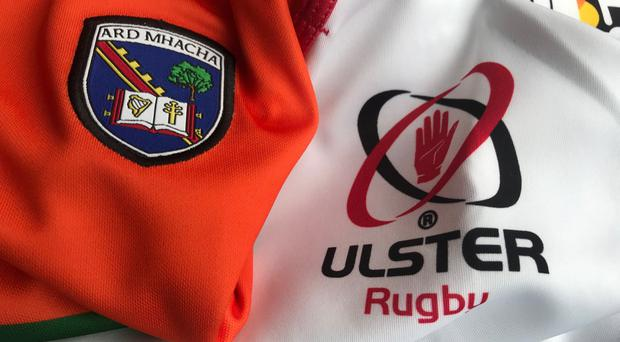 The Armagh GAA and Ulster Rugby squads came together at Lurgan RFC's Pollock Park on Friday.