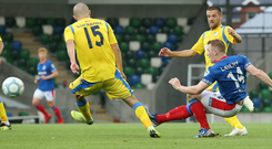 Get in: Linfield ace Shayne Lavery keeps his cool to sweep home