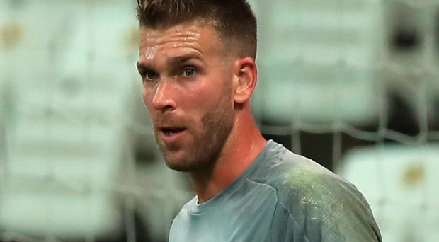 Thrown in: Adrian will make his first start for Liverpool