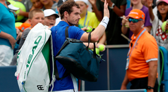 On way back: Andy Murray after defeat to Richard Gasquet
