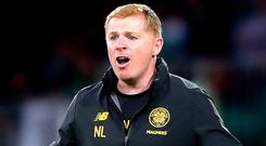 Celtic's manager Neil Lennon was far from happy after his side's early Champions League exit.