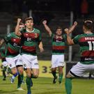 Glentoran's Paul O'Neill netted an 83rd minute equaliser.