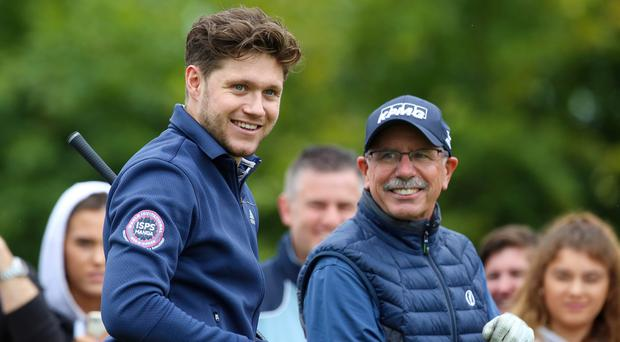 Niall Horan showed off his own golfing skills in Wednesday's Pro-Am.