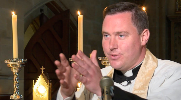 Fr Marcus Holden from St Bede's Parish in Clapham Park, south London