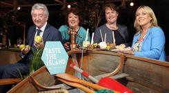 Tourism NI chief executive, John McGrillen, chef Paula McIntyre, Tourism Ireland's Louise Finnegan and Fáilte Ireland's Tracey Coughlan