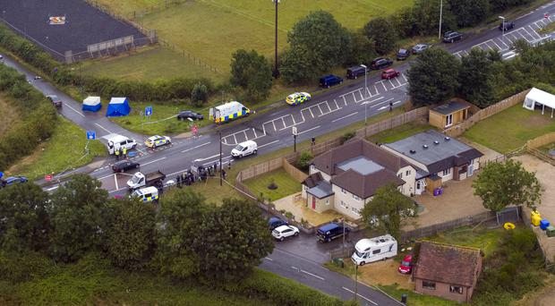 The scene near Sulhamstead, Berkshire, where Pc Andrew Harper was killed (Steve Parsons/PA)