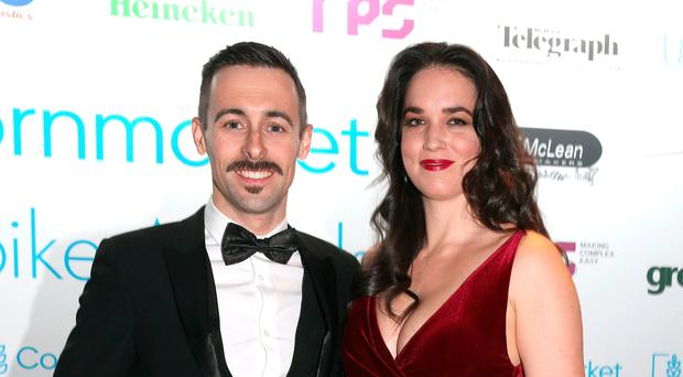 Super move: Eugene Laverty and wife Pippa at this year's Cornmarket Motorbike awards in Belfast