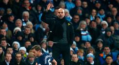 Turning point: Pep Guardiola during Man City's 2016 defeat to Tottenham