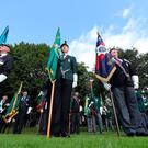 Veterans attend a drum head service in Wallace Park in Lisburn, during a Northern Ireland Veterans Association event to mark the 50th anniversary of Operation Banner. Niall Carson/PA Wire
