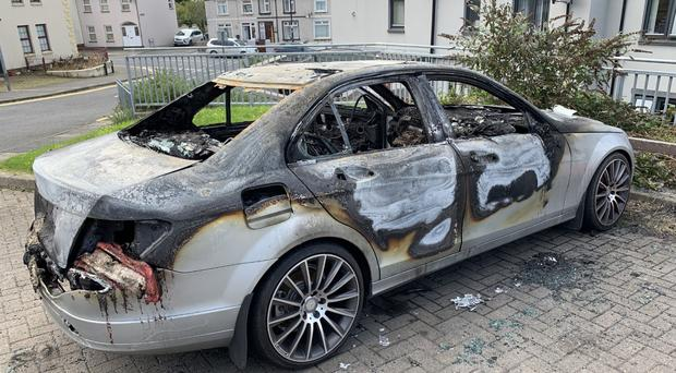 The arson attack happened on Mary Street in Downpatrick at around 1.45am.