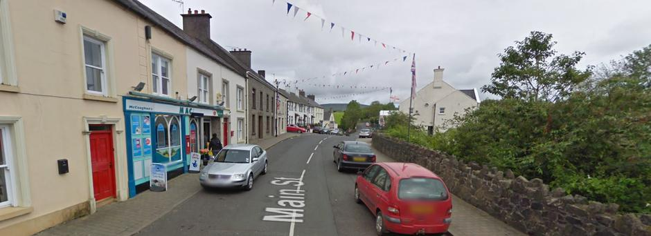 The incident happened on Main Street in Armoy. Credit: Google