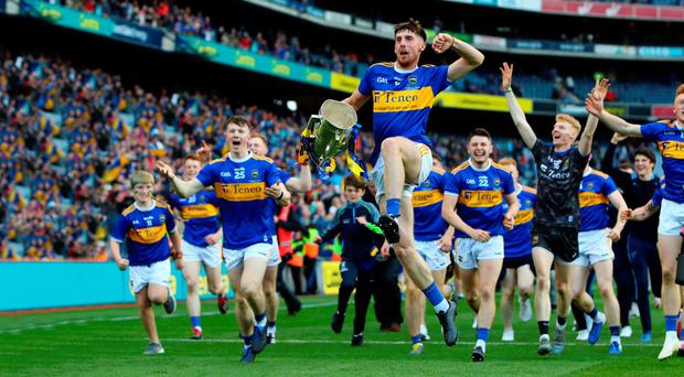 Major high: Tipperary's Ger Browne leads the celebrations