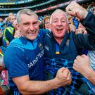 Family joy: Tipperary manager Liam Sheedy celebrates with his brother Mike