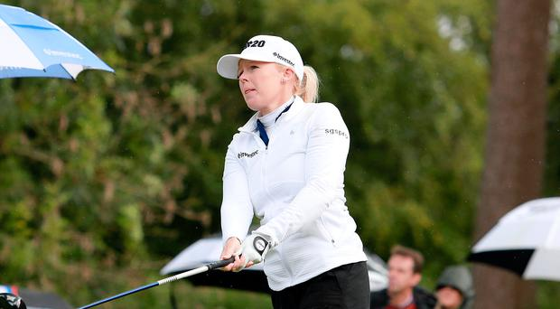 Top stuff: Stephanie Meadow en route to victory at Galgorm Castle