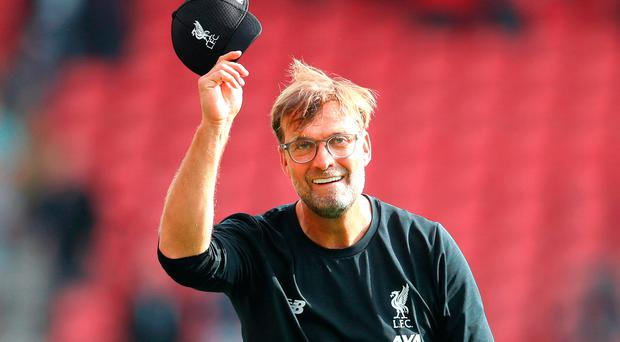Hat's off: Jurgen Klopp hailed his teams's mentality